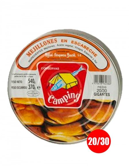 Pickled mussels Camping (20/30 units)