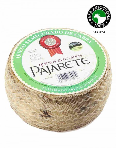 Pajarete's goat's semi cured cheese