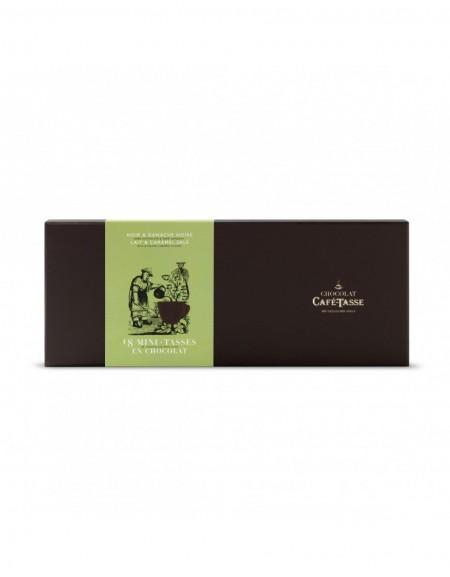 Caja 18 mini tazas de chocolate Café-Tasse