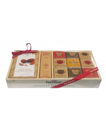 Caja regalo de madera Café-Tasse