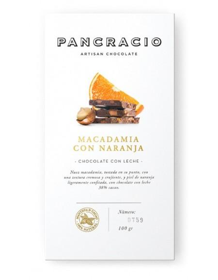 Chocolate tablet - macadamia with orange