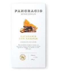 Tableta de chocolate - macadamia con naranja