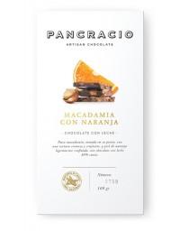 Tablette de chocolat - macadamia et orange