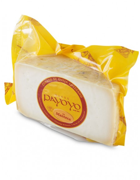 Half Payoyo sheep cured cheese in butter